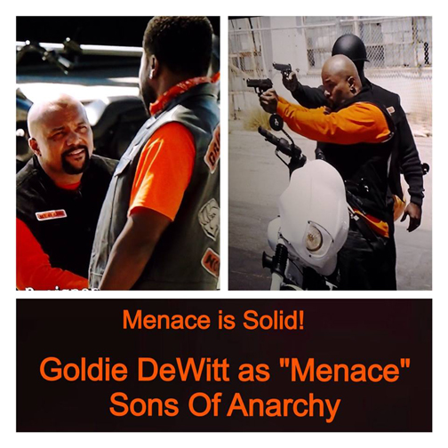 goldie named �menace� on sons of anarchy � 1down